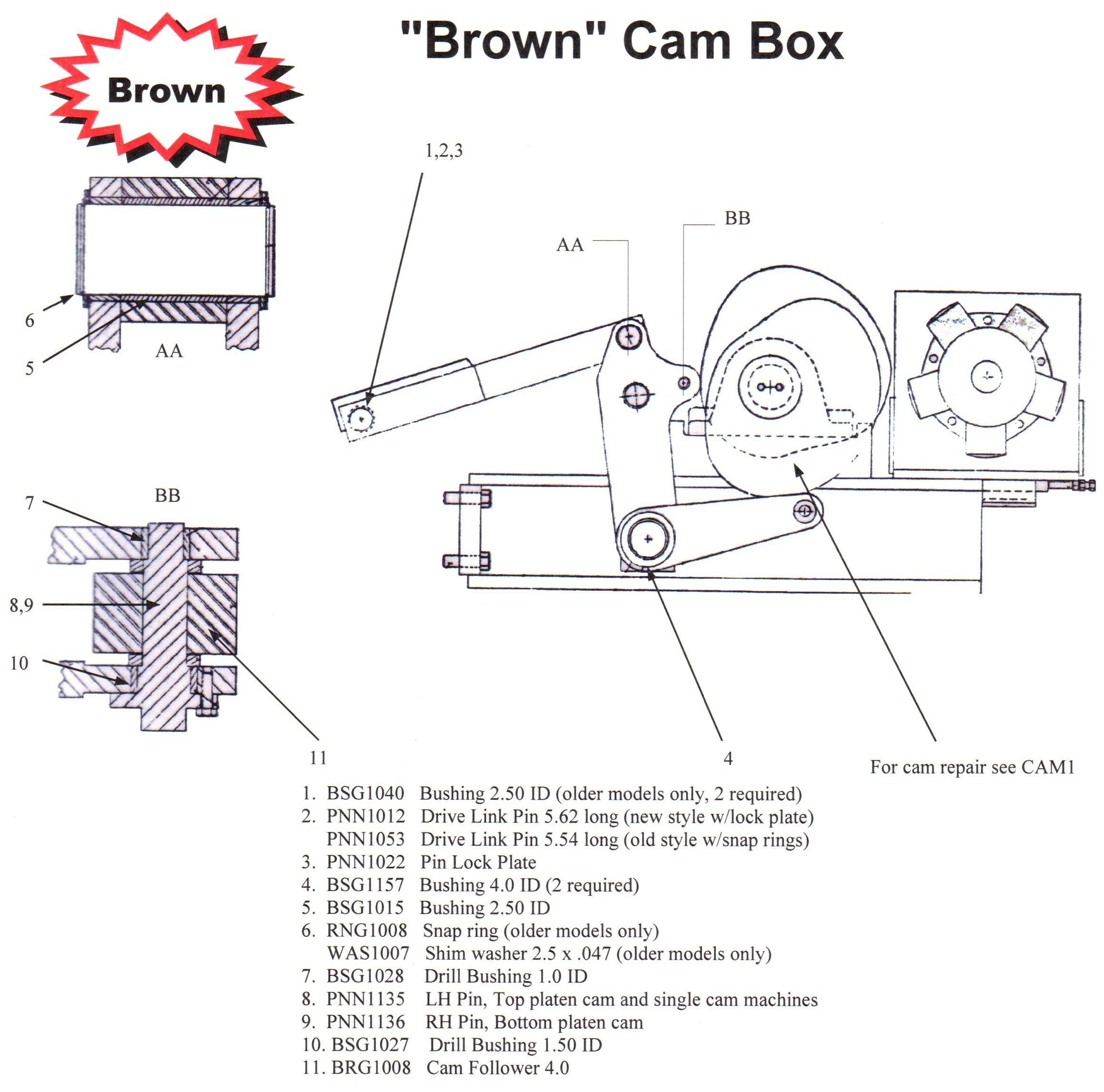 Brown Cam Box