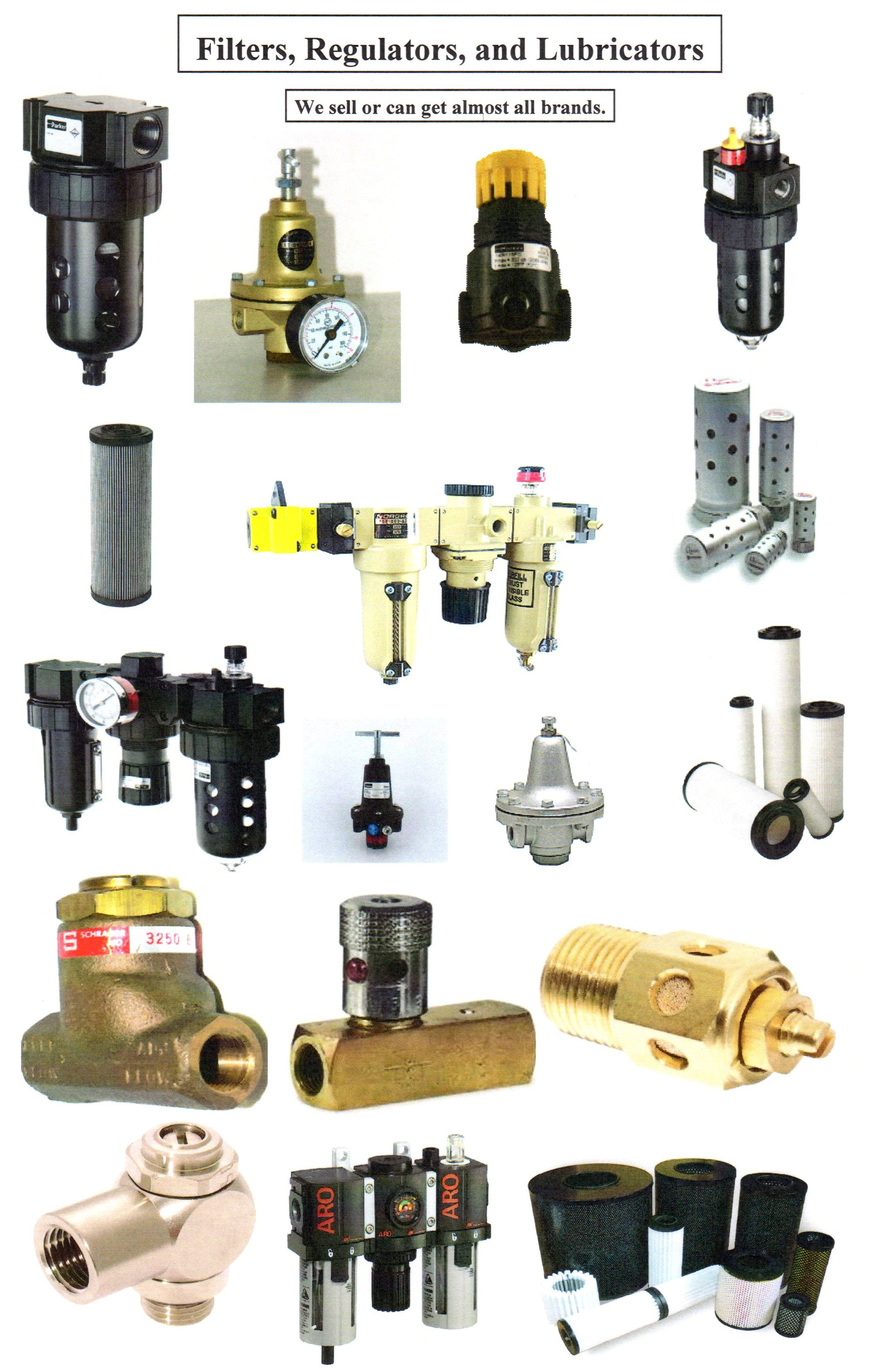 FRL'S, Filters, Regulators, Lubricators