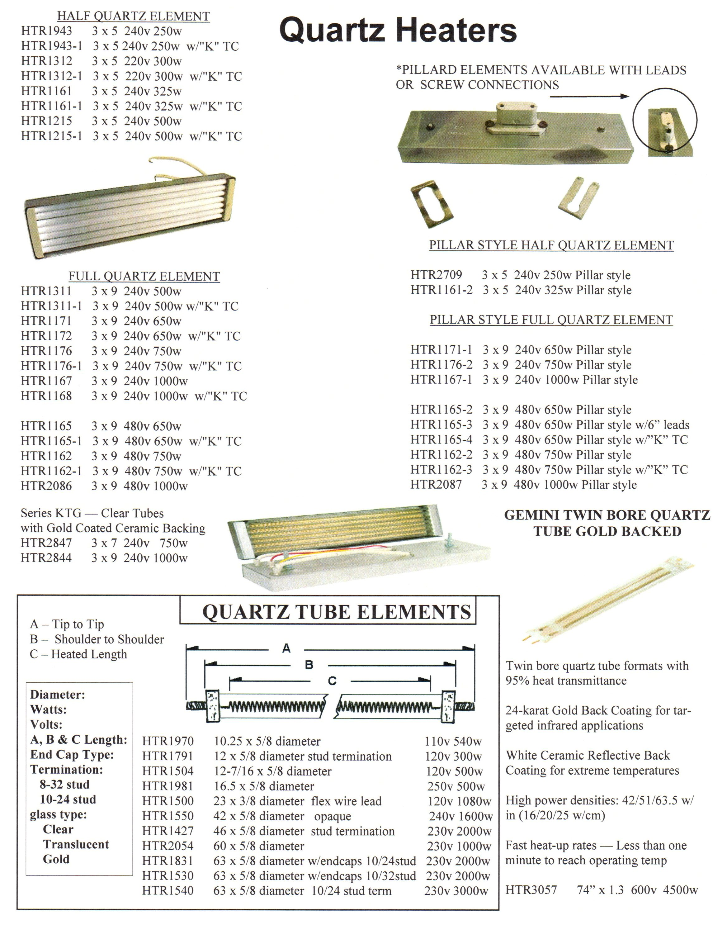 Quartz Tube Assemblies