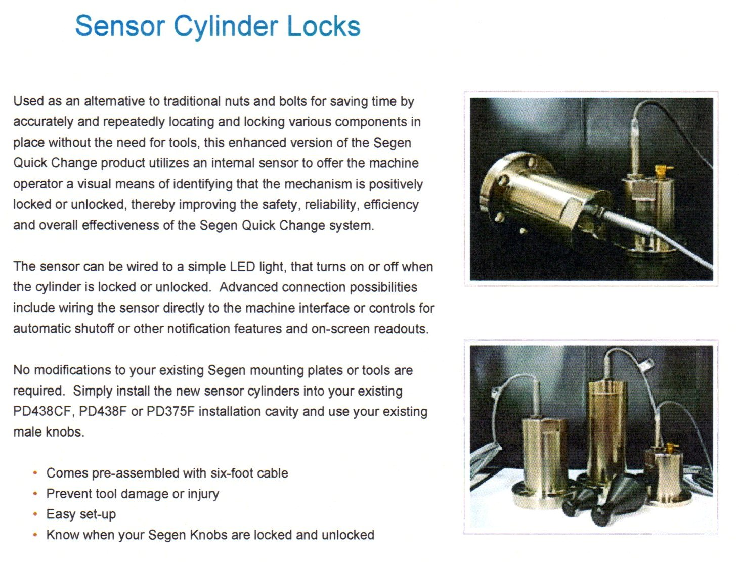 Quick Change Sensor Cylinder Locks