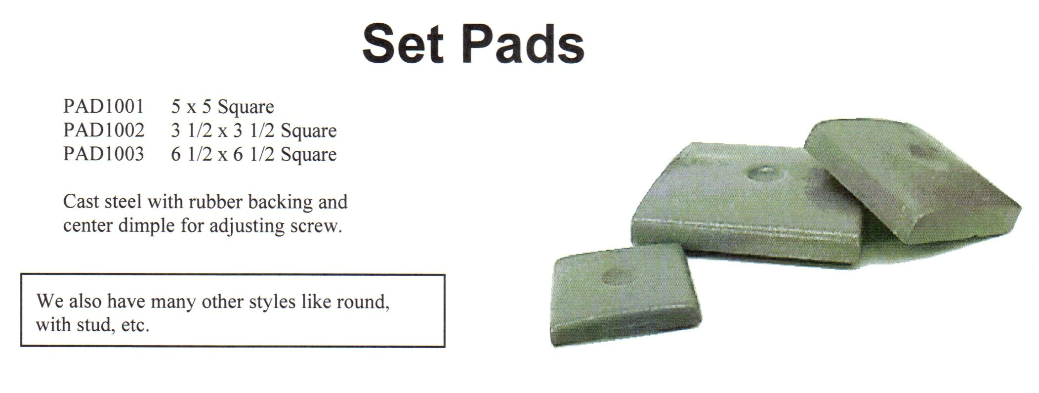 Machine Set Pads