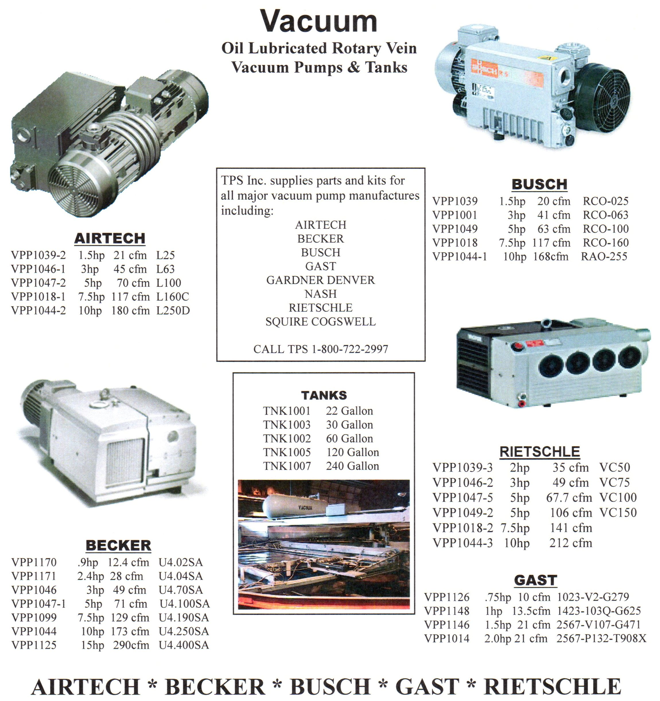 Vacuum & Air Pumps/Tanks
