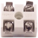 TERMINAL BLOCK 2P CERAMIC,EXTERNAL FITS 8/32 SCREW,