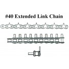 "#40, 1"" CENTERS, EXTENDED LINK, UST, .562"" STICKER HEIGHT"