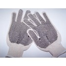 DOTTED KNIT GLOVES LARGE