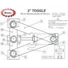 "TOGGLE ASSY 2.00"" PINS"