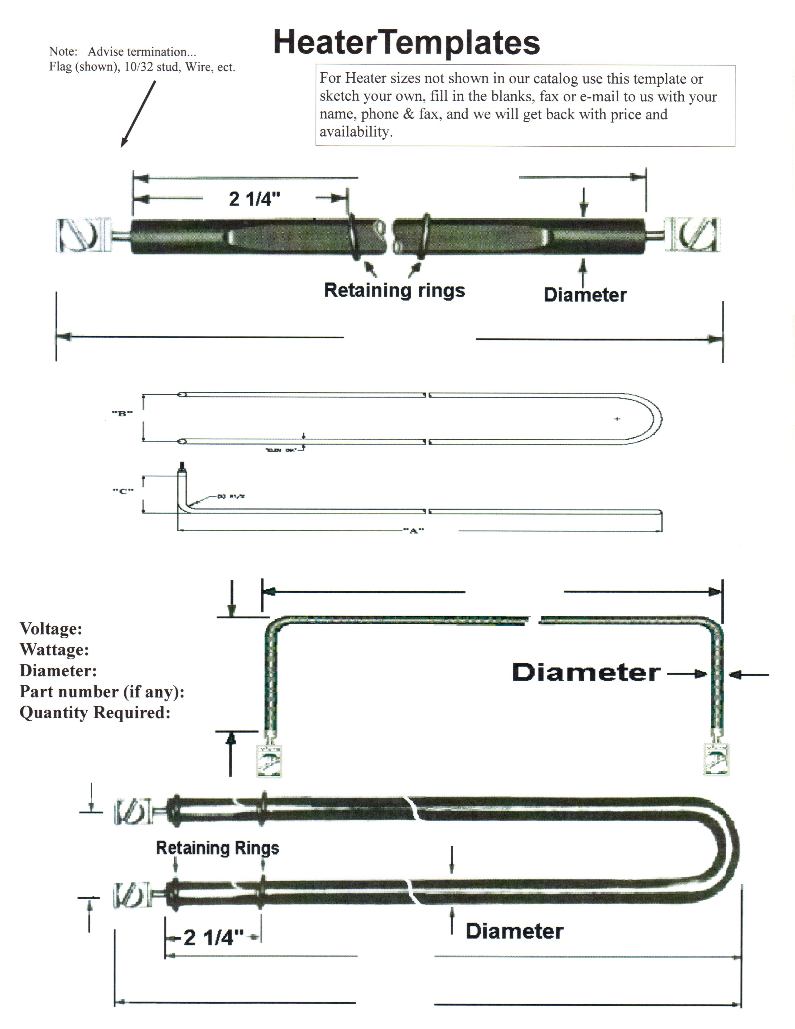 Some Heater Templates