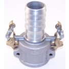 """COUPELR 1-1/2"""" CAM/GROOVE WITH MALE BARB ALUMINUM"""